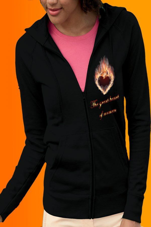 the great heart of women Felpa