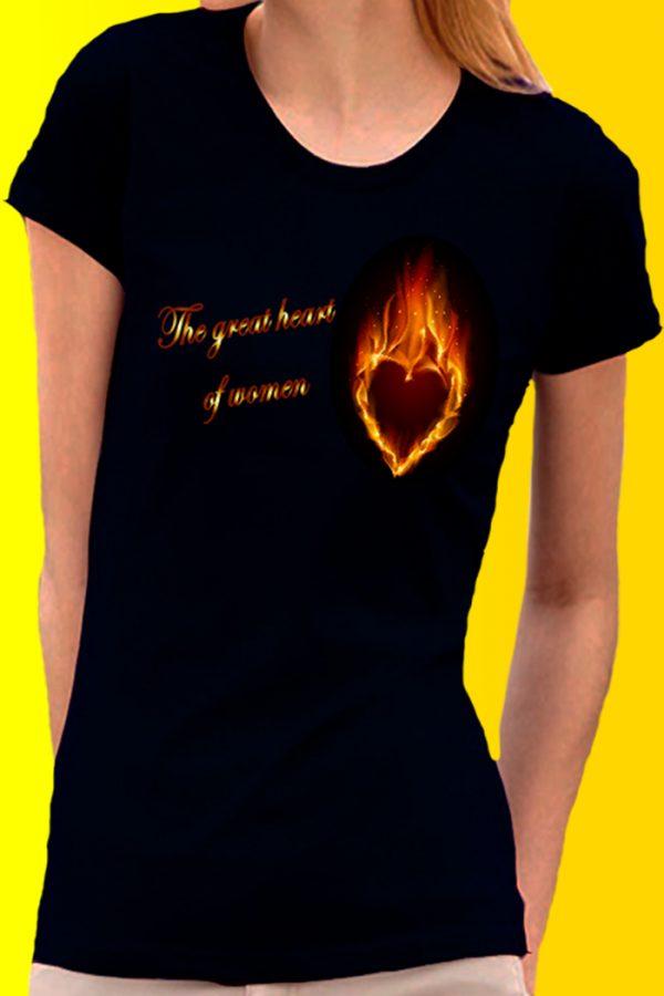 the great heart of women t-shirt