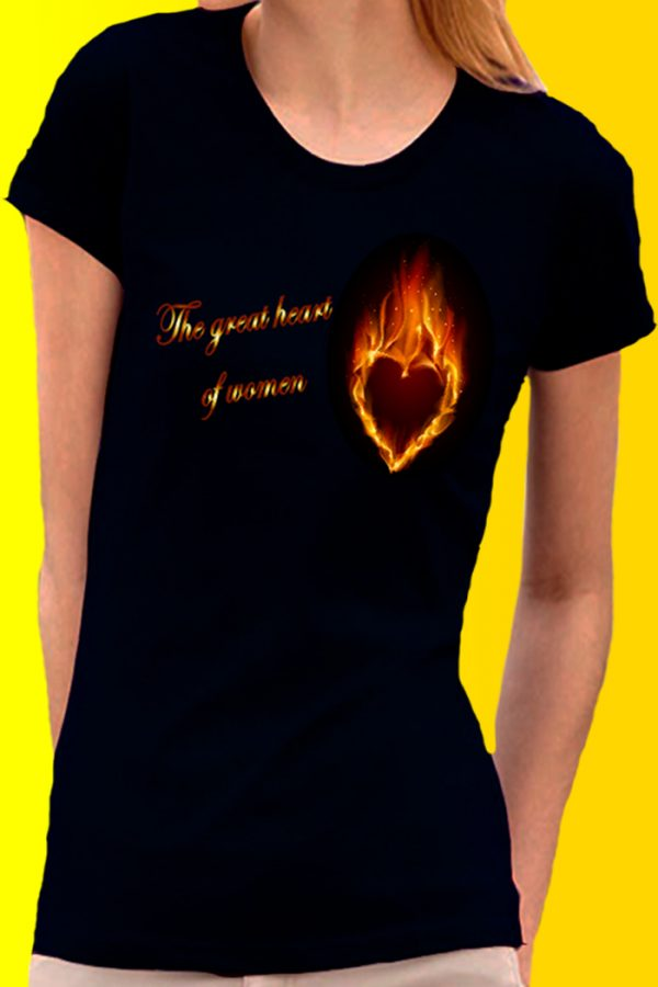 the great heart of women t-shirt